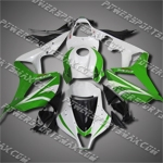 Injection Molded Fit CBR600RR 07 08 Green White Fairing ZN1040, Free Shipping!