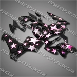 Injection Molded Fit CBR600RR 03 04 Purple Star Fairing 63N36, Free Shipping!