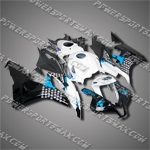 Injection Molded Fit CBR600RR 07 08 Blue White Black Fairing 67N42, Free Shipping!