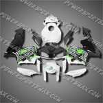 Injection Molded Fit CBR600RR 03 04 Green White Black Fairing ZN834, Free Shipping!