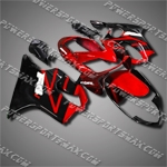 For CBR600F4i 04-07 Red Black ABS Fairing 64N15, Free Shipping!