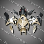 Injection Molded Fit CBR600RR 05 06 Flames Gold Black Fairing ZN700, Free Shipping!