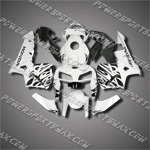 Injection Molded Fit CBR600RR 05 06 Black White Fairing ZN663, Free Shipping!