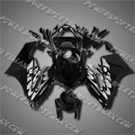 Injection Molded Fit CBR1000RR 04 05 Black White Fairing ZN127, Free Shipping!