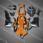 Injection Molded Fit CBR600RR 07 08 Orange Black Fairing ZN148, Free Shipping!