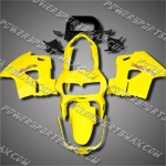 For VFR800RR Interceptor 98-01 Yellow Black ABS Fairing 88N34-handcraft, Free Shipping!