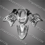 Fit CBR1100XX Blackbird 96-07 Black Flames Fairing ZN593, Free Shipping!