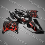 Fit CBR1100XX Blackbird 96-07 Red Flames Fairing 11N32, Free Shipping!