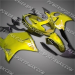 Fit CBR1100XX Blackbird 96-07 Gold Black ABS Fairing 11N24, Free Shipping!