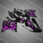 Fit CBR1100XX Blackbird 96-07 Purple Flames Fairing 11N37, Free Shipping!