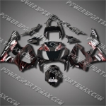 For CBR929RR 00 01 Red Flames Black Fairing ZH724, Free Shipping!