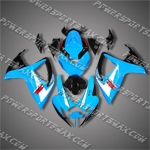 Injection Molded For Suzuki GSX-R600 06 07 K6 Blue Fairing 489AN, Free Shipping!