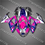 Injection Molded For Suzuki GSX-R600 06 07 K6 Corona Rose ABS Fairing, Free Shipping!