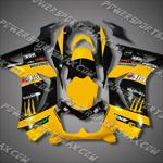 Injection Molded For  Kawasaki Ninja EX250 250R 08 09 Yellow Black Fairing, Free Shipping!