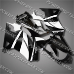 Injection Molded For Kawasaki Ninja EX250 250R 08 09 White Black Fairing 25W39, Free Shipping!