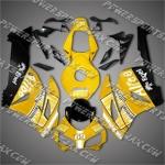 Honda CBR1000RR 04 05 Alice Yellow Black Fairing, Free Shipping!