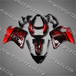 Honda CBR1100XX Blackbird Red Flames Fairing 11N02, Free Shipping!