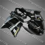 Honda CBR1100XX Blackbird 96-07 Silver Black ABS Fairing ZN89, Free Shipping!