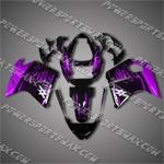 Honda CBR1100XX Blackbird Purple Flame Fairing 1106, Free Shipping!