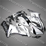 "Honda CBR1000RR 04 05 Black White Fairing 14N20 "", Free Shipping!"