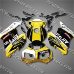 Honda CBR1000RR 04 05 Yellow Black Fairing ZN597, Free Shipping!