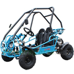 GK-F032 X-PRO 125cc Middle Size Go Kart with 3-Speed Semi-Automatic Transmission w/Reverse, Hydraulic Disc! LED Headlights!