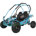"X-PRO 125cc Go Kart with Automatic Transmission w/Reverse! Remote Control! LED Headlights! Big 16"" Wheels!"