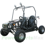 GK-T002 125cc Go Kart with Semi-Automatic Transmission w/Reverse, Disc Brakes, Roof Lights!