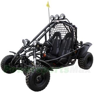 Go Kart with Automatic Transmission w/Reverse, Diamond Plate Flo