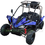 "GK-W010 125cc Kids Go Kart with Automatic Transmission w/Reverse! Disc Brakes, Big 19""/18"" Wheels!"