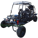 "GK-W012 200cc 4 Seater Go Kart with CVT Automatic Transmission w/Reverse, Big 21""/22"" Wheels, LED Top Lights! With Spare Tire!"