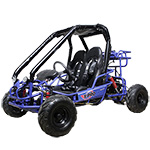 "X-PRO Blast 110cc Go Kart with Fully Automatic Transmission w/Reverse, LED Headlights and Remote Control! Big 14.5"" Wheels!"