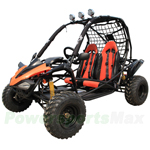 GK-X12 200cc X-PRO Exclusive Go Kart with CVT Transmission w/Reverse, Disc Brakes! Roof Lights, Hand & Foot Brake!