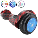 "Free Shipping! X-PRO Hot Rod Flame 6.5"" Self Balancing Scooter Hoverboard with Bluetooth Speaker, LED Lights! Exclusive Style!"