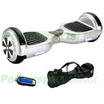 "Silver Two-Wheel Smart Electric Self Balancing Scooter Hoverboard, 6.5""tires, with Remote Control & Free Bag! Free Shipping!"