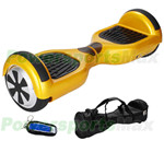 "Gold Two-Wheel Smart Electric Self Balancing Scooter Hoverboard, 6.5""tires, with Remote Control & Free Bag! Free Shipping!"