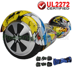 Skull UL2272 Certified Balancing Scooter Hoverboard, w/Free Protection Kits and Free Bag! Free Shipping!