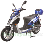 "MC-G012 50cc Moped Scooter with 12"" Wheels, Electric / Kick Start! Rear Trunk!"