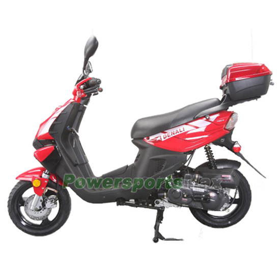 """50cc Sports Moped Scooter with 12"""" Wheels, Electric / Kick ..."""