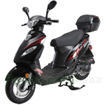 "MC-G036 50cc Moped Scooter with 10"" Wheels, Disc/Drum Brakes! Electric/Kick Start! Rear Trunk!"