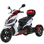 "MC-Q006 50cc Trike Scooter With Automatic Transmission,  Electric / kick Start with 12"" Wheels!"