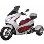 "MC-Q010 50cc Trike Scooter With Automatic Transmission,  Electric / kick Start with 14""/10"" Wheels!"
