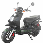 "MC-Q016 150cc Moped Scooter with Automatic Transmission, Electric / Kick Start, 12"" Alunimum Wheels!"