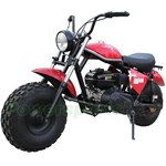 "MC-M02 196cc Mini Bike with Front & Rear 19"" Low Pressure Wheels, Recoil Cord Start! Torque Converter!"