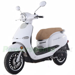 "MC-M05 150cc Moped Scooter with Retro Stylish Design, 12"" Wheels, Electric/Kick Start! Fully Assembled! Free Shipping!"