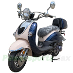 "MC-M06 150cc Moped Scooter with Retro Stylish Design, 10"" Wheels, Electric/Kick Start! Fully Assembled! Free Shipping!"