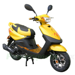 "MC-N007 50cc Moped Scooter with 10"" Wheels, Electric start/Kick start! With Aluminium Alloy Upgraded!"