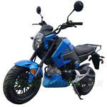 "MC-N014 125cc Vader Street Motorcycle with Manual Transmission, Electric Start! Big 12"" Wheels!"
