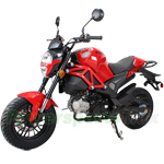 "MC-N015 X-PRO Bufflo 125cc Vader Motorcycle with Manual Transmission, Electric Start! 12"" Wheels!"