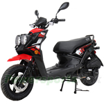 "X-PRO 150cc Moped Scooter with 12"" Aluminum Wheels, Electric/Kick Start, Dual Headlights and Tail Lights!"